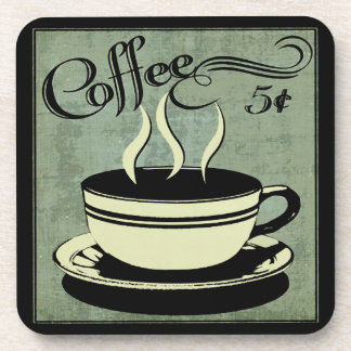 Five Cent Cup of Coffee Coaster
