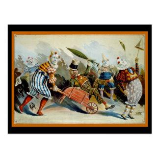 Five Clowns Postcard