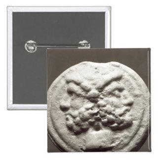 Five coins depicting Janus, Jupiter 15 Cm Square Badge