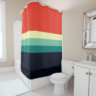 Five Color Combo - Blue Aqua Green Yellow Red Shower Curtain