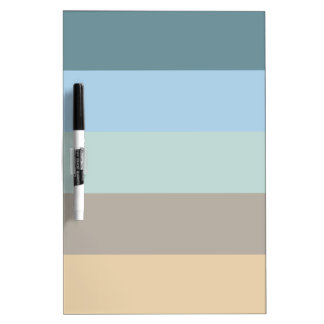Five Color Combo -Blue Brown Sand Beige Turquoise Dry Erase Board