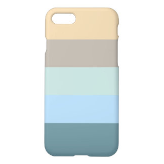 Five Color Combo -Blue Brown Sand Beige Turquoise iPhone 8/7 Case