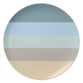 Five Color Combo -Blue Brown Sand Beige Turquoise Plate