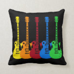 Five Colourful Electric Guitars Pillow