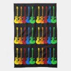 Five Electric Guitars Tea Towel