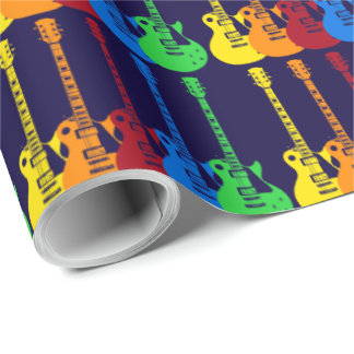 Five Electric Guitars Wrapping Paper