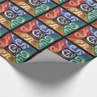 Five Elemental Dragons Wrapping Paper