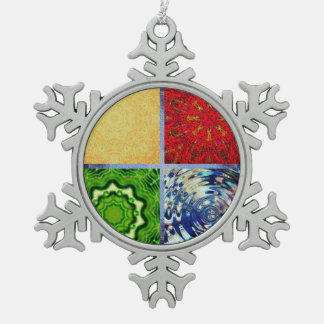 Five Elements Banner Pewter Snowflake Decoration