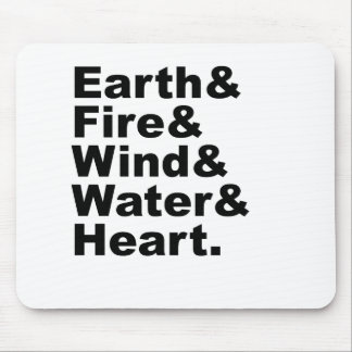 Five Elements   Earth Fire Wind Water & Heart Mouse Pad