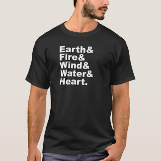 Five Elements | Earth Fire Wind Water & Heart T-Shirt