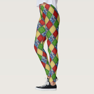 Five Elements tiled pattern Leggings