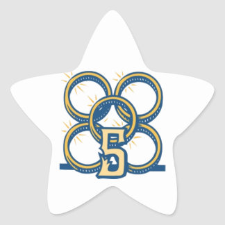 Five Gold Rings! Star Sticker