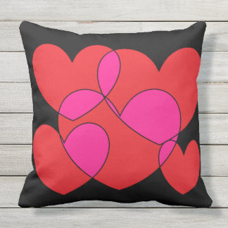 Five Hearts SDL Throw Pillow