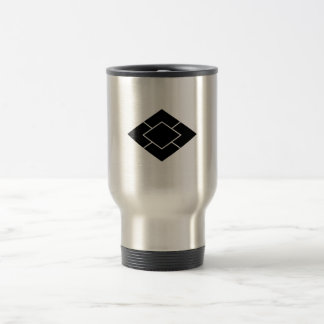 Five-layered rhombuses travel mug