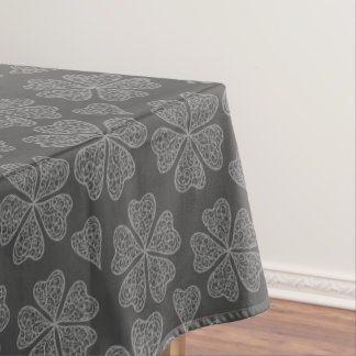 Five leaves clovers pattern - floral pattern tablecloth