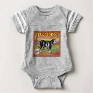 Five Legged Cow Baby Bodysuit