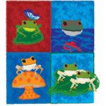 Five little frogs photo sculpture