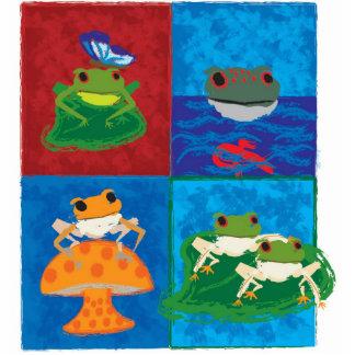Five little frogs photo sculpture badge