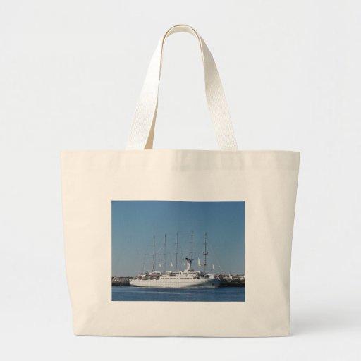 Five Masted Cruise Ship Canvas Bag