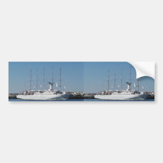 Five Masted Cruise Ship Bumper Sticker