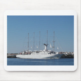Five Masted Cruise Ship Mouse Pad