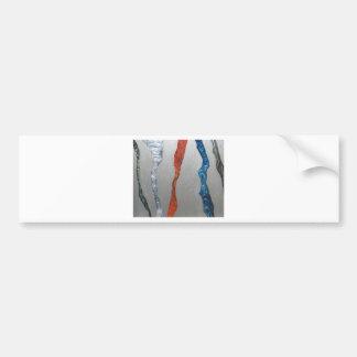 Five Metallic Tornadoes (metallic expressionism) Bumper Sticker
