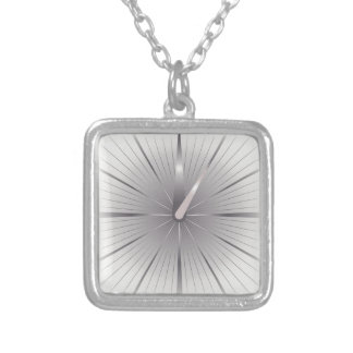 five minutes silver plated necklace