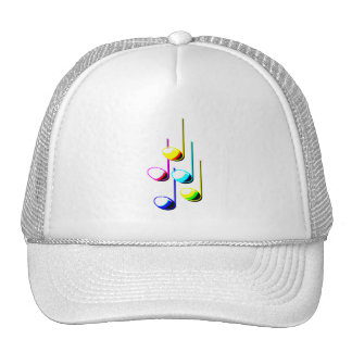 Five Music Notes in colours Musician Graphic Hats