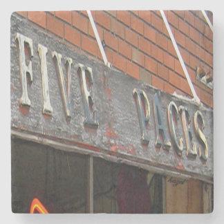 Five Paces, Buckhead Atlanta Marble Stone Coaster. Stone Coaster