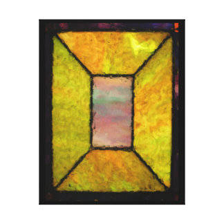 Five Pane Stained Glass Window Wall Art Canvas Print
