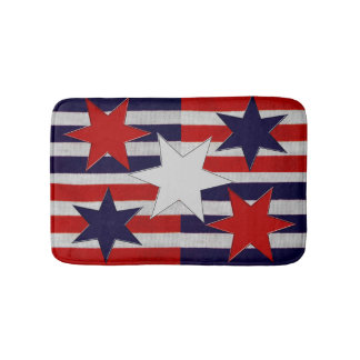 Five Patriotic Stars & Stripes Bath Mats