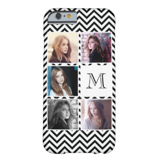 Five Photo Collage Chevron Chic Barely There iPhone 6 Case