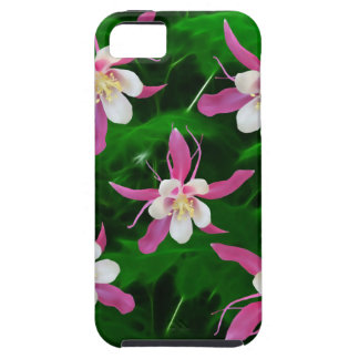 Five Pink Columbine flowers iPhone 5 Cover