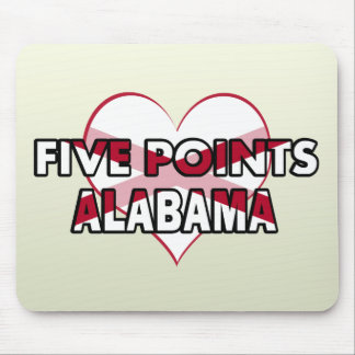 Five Points, Alabama Mousepad