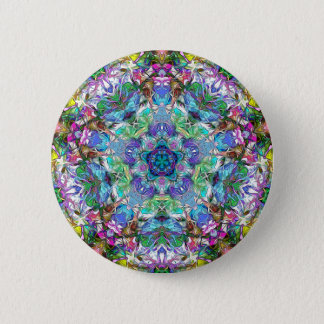 Five Points of Color Abstract 6 Cm Round Badge