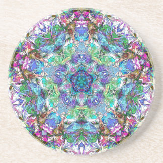 Five Points of Color Abstract Coaster