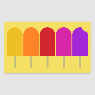 Five Popsicles Rectangular Sticker