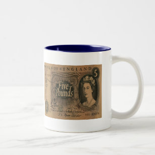 Five-pound note Stirling Two-Tone Coffee Mug