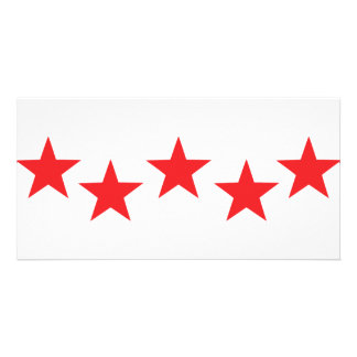 five red stars in bow icon picture card
