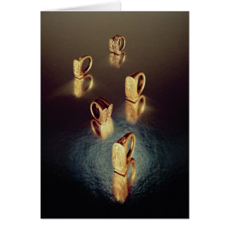 Five rings, from the Tomb of Tutankhamun Card