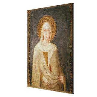 Five Saints, detail of St. Clare Canvas Print
