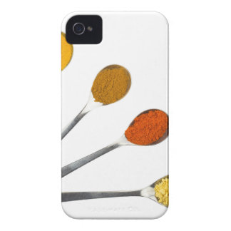 Five seasoning spices on metal spoons Case-Mate iPhone 4 case