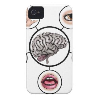 Five Senses Brain iPhone 4 Case-Mate Case