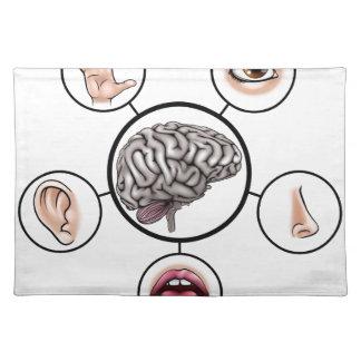 Five Senses Brain Placemat