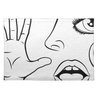 Five Senses Illustration Placemat