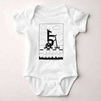 Five Speed Unicorn Baby Bodysuit