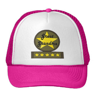 Five Star Great Grandmother Mothers Day Gifts Trucker Hats