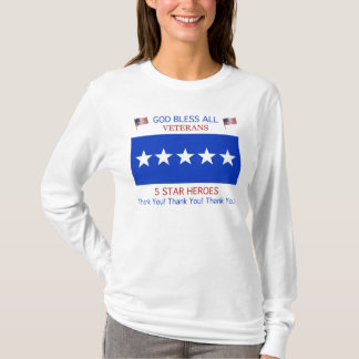 Five Star Support For Veterans Shirt