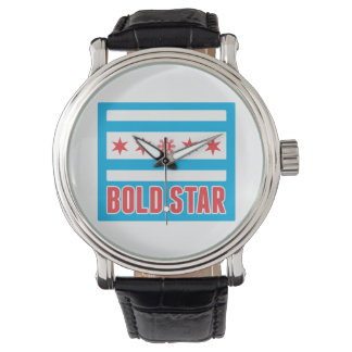 Five Stars CHI Flag Logo Watch