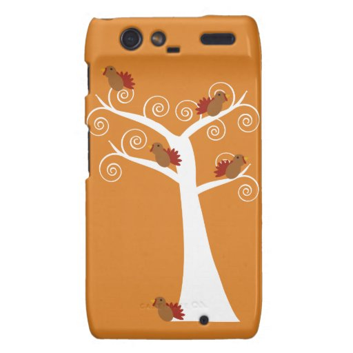 Five Thanksgiving Turkeys in a Tree Droid RAZR Cover